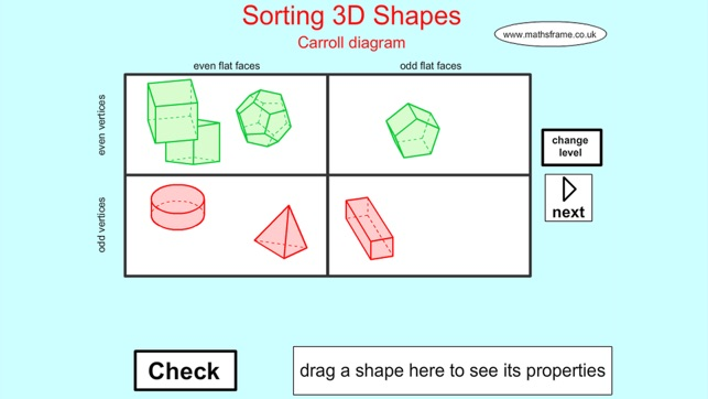 Sorting 3d shapes carroll on the app store ccuart Choice Image