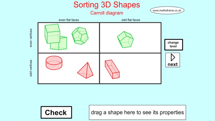 sorting 3d shapes carroll by mathsframe ltda