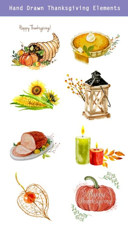 Thanksgiving Watercolor Set screenshot-3