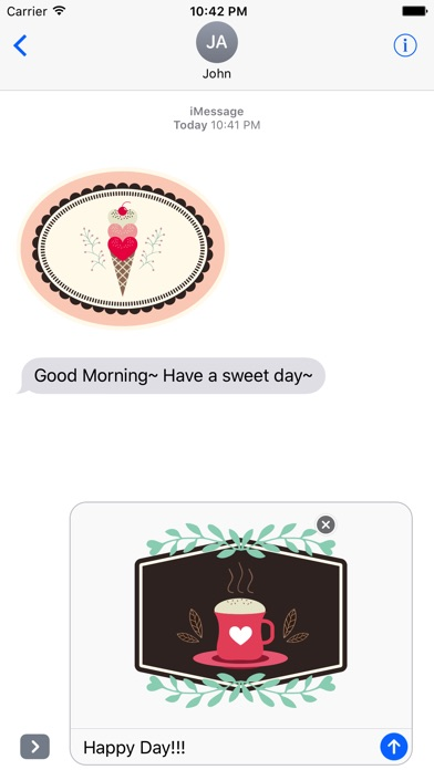 Lovely & Sweet Stickers Pack screenshot 2