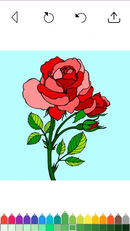 Flower Coloring Book Games screenshot-9