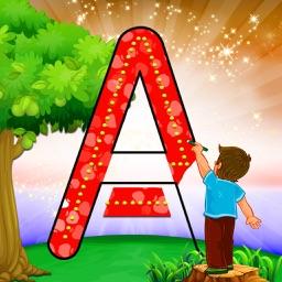 Alphabet Tracing Jigsaw Color
