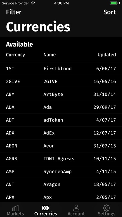 ALTX: Third party Bittrex app screenshot-3