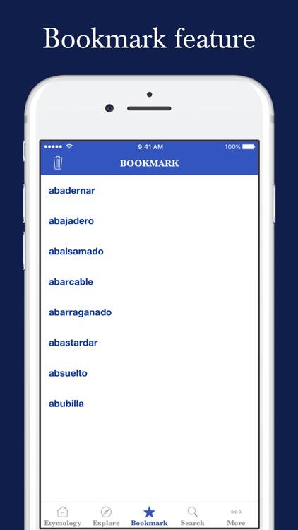 Spanish Etymology Dictionary screenshot-4