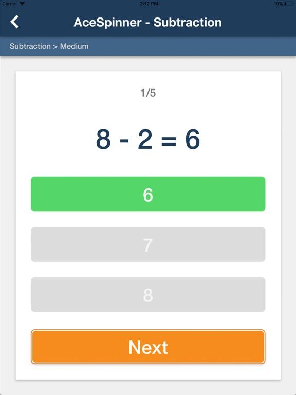 Ace Spinner Math Games Lite screenshot 10