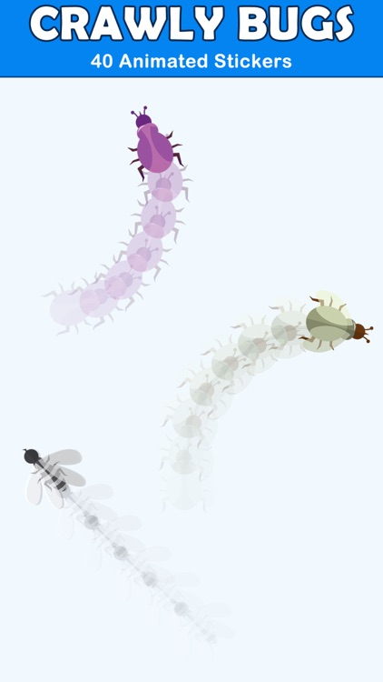 Crawly Bugs Animated Stickers