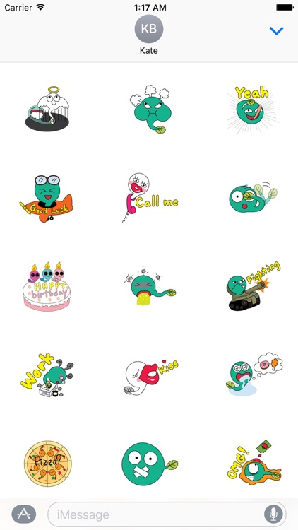 A Cute Tadpole Stickers Pack