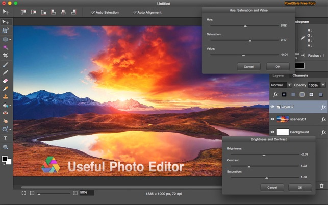 Photo Image Editor Pixelstyle on the Mac App Store