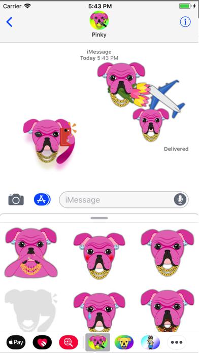 Pink Bling Hip Hop Bulldog screenshot two