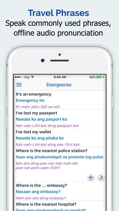 Filipino Dictionary, Translator, Phrase Book App Profile