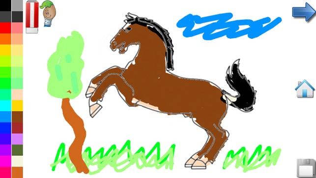 Malvorlagen Pferde Und Pony Im App Store