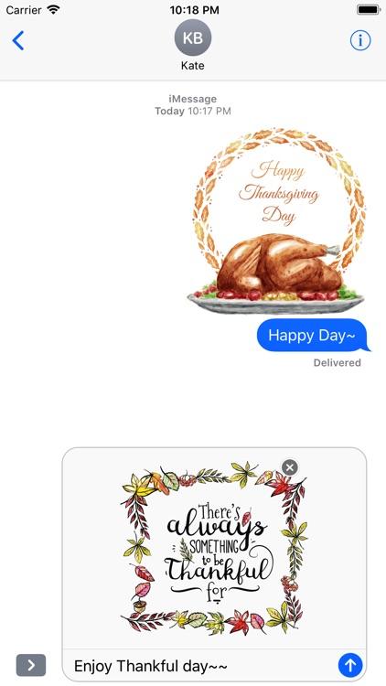Thanksgiving Watercolor Set screenshot-4
