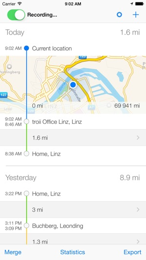 Tour Automatic Mileage Log On The App Store