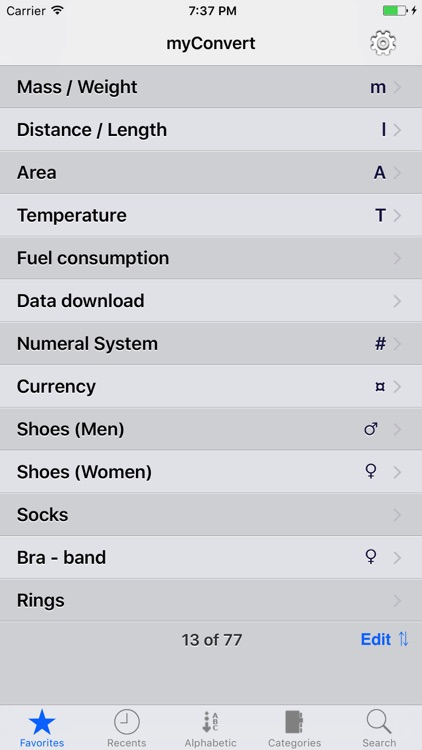myConvert Lite - unit converter screenshot-1