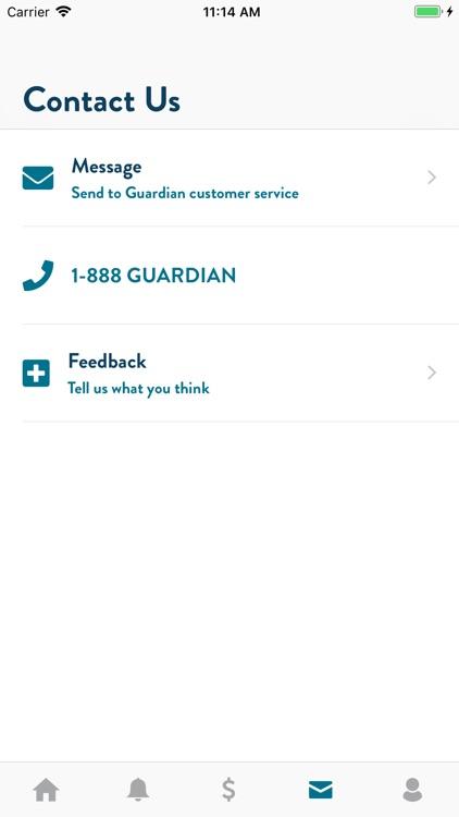 GUARDIAN® Accounts & Policies screenshot-4