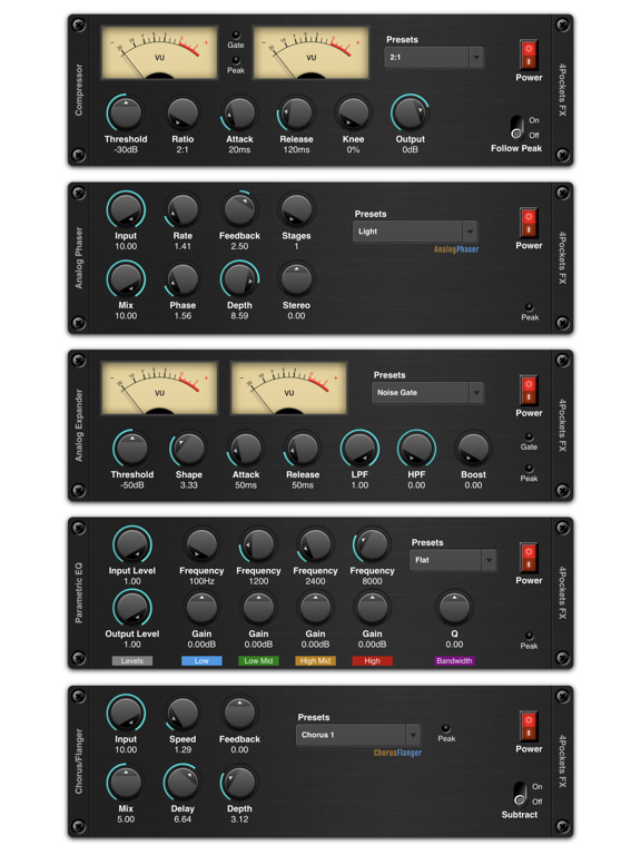 Audio Unit (AU) iOS Compressor, Limiter, Gate Apps (23)