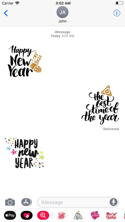 Happy New Year Wishes Sticker