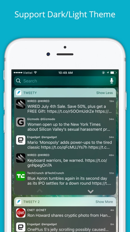 Tweety Pro - Show Twitter Timeline on Lock Screen screenshot-2