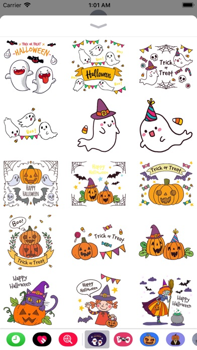 Hand Drawn Cute Halloween screenshot 1