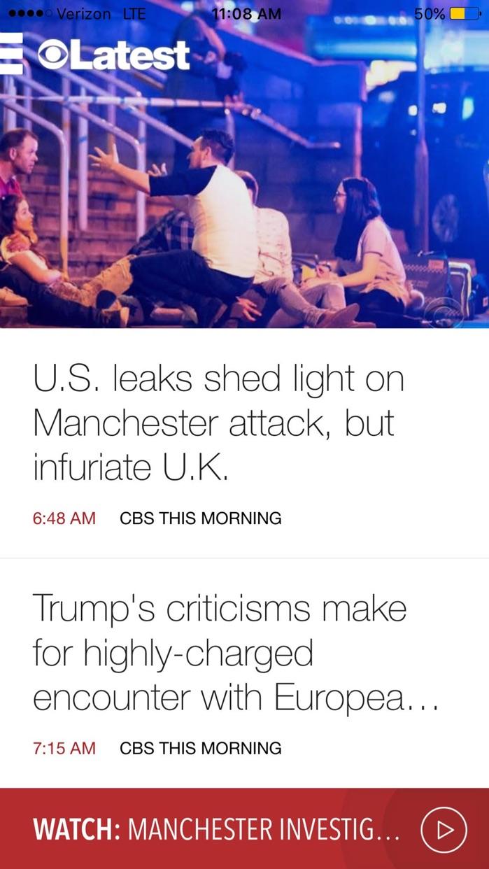 CBS News: Live Breaking News Screenshot