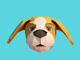 Animoji Beagle dog sticker