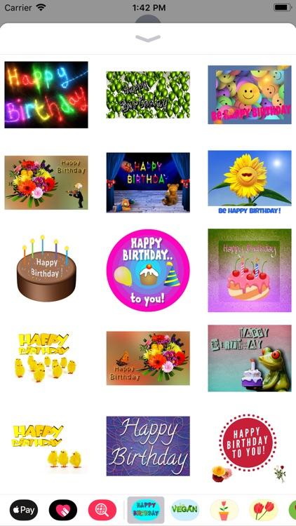 Happy Happy Birthday Stickers screenshot-5