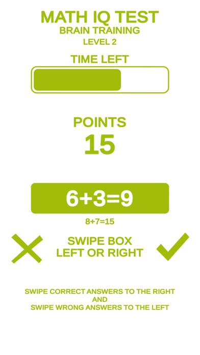 Math IQ Test + Brain Training screenshot 3