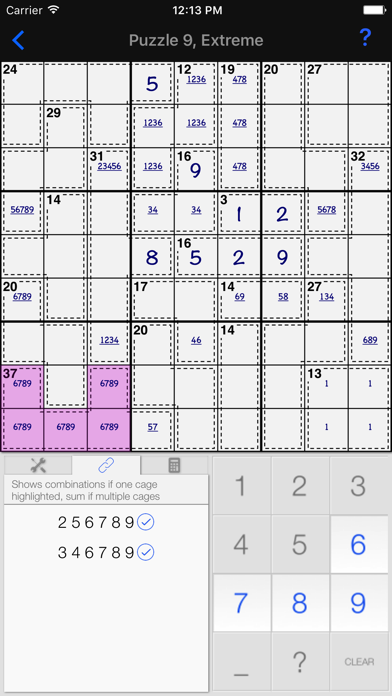 Killer Sudoku +