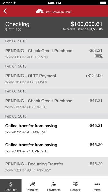 First Hawaiian Bank Mobile screenshot-3