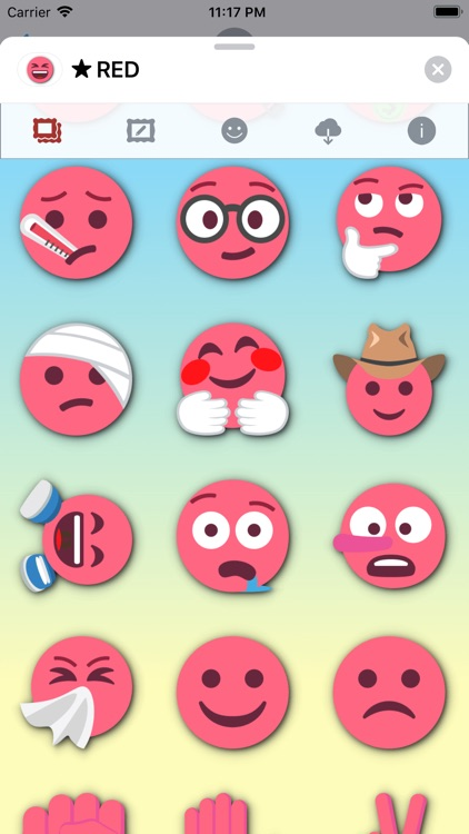 RED Emoji • Stickers screenshot-9