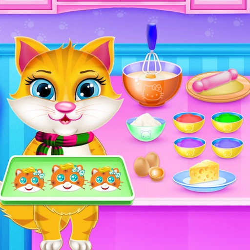Kitty Cookie Maker Bakery Game