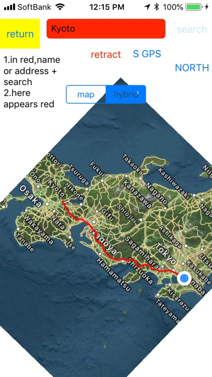 turn around north magnet map