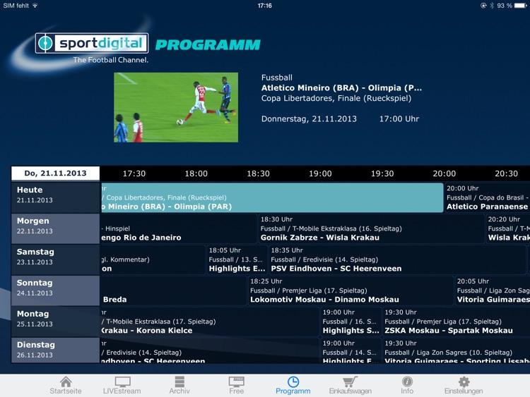 sportdigital – LIVE Fußball screenshot-3