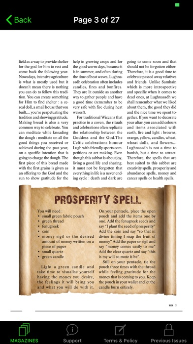Wicca Magazine review screenshots