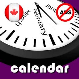 2019 Canada Calendar NoAds
