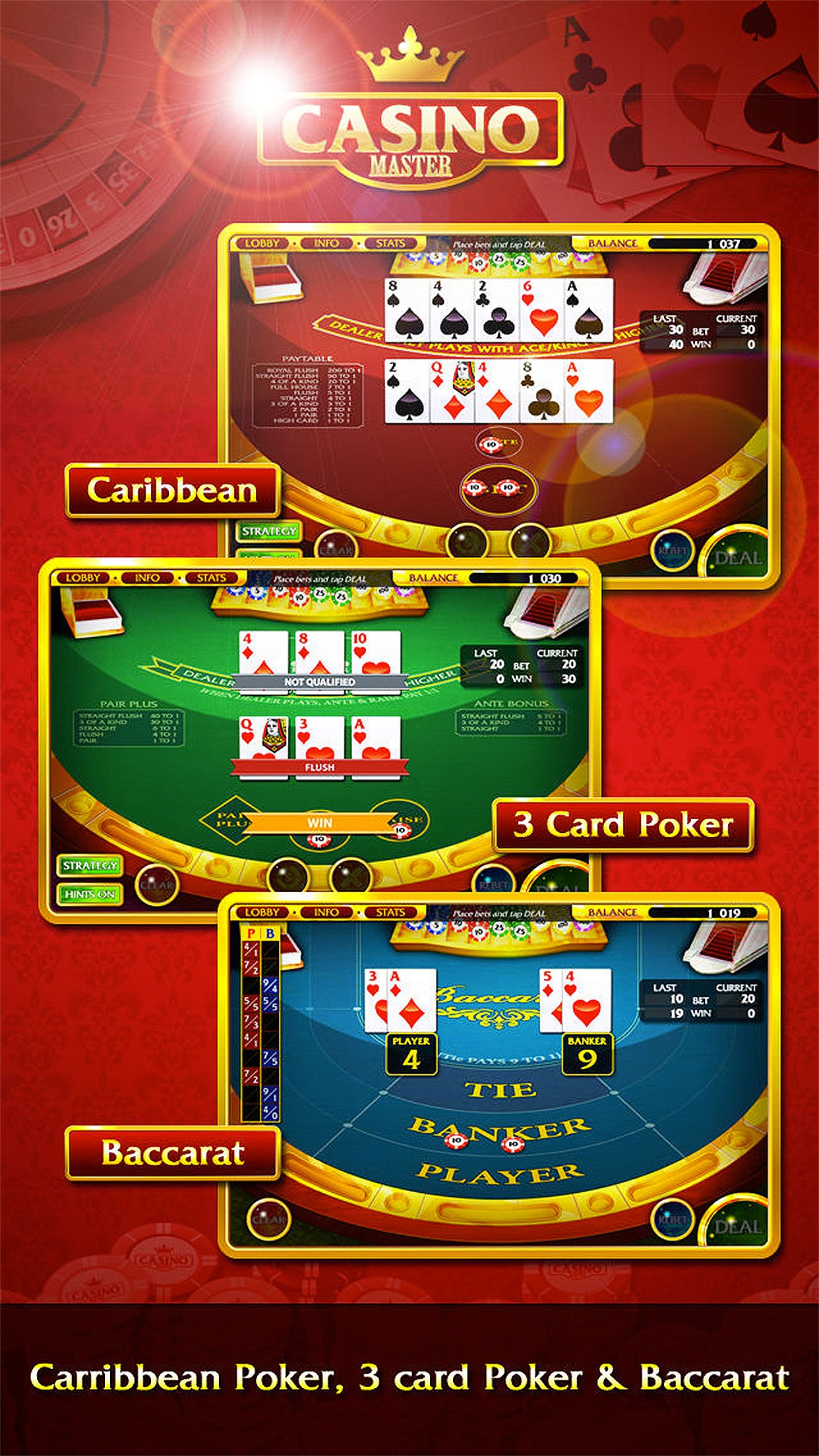 Casino Master - Slots Poker Screenshot