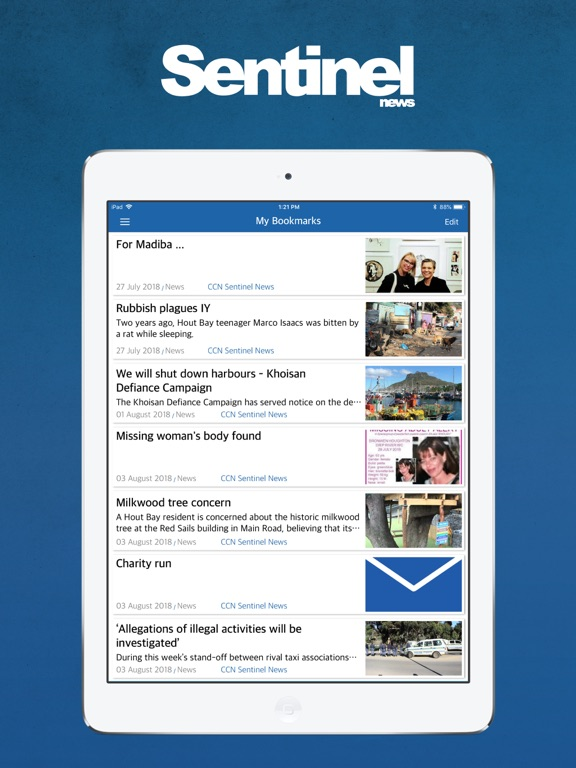 Image of Sentinel News for iPad