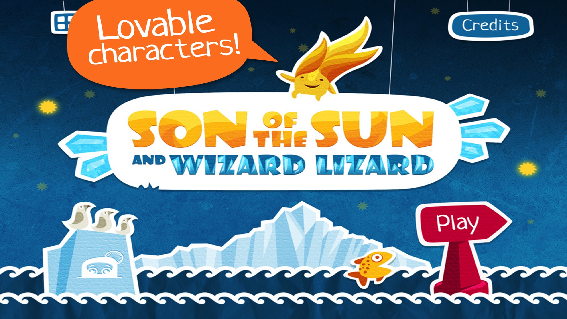 Screenshot do app SON of the SUN & WIZARD LIZARD