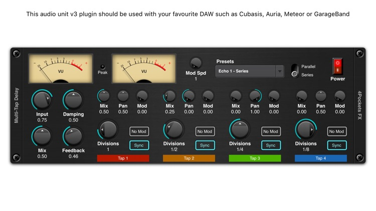 Multi-Tap Delay AUv3 Plugin