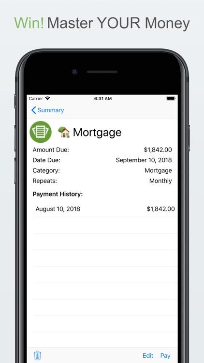 Money Master - Bill Organizer screenshot-4