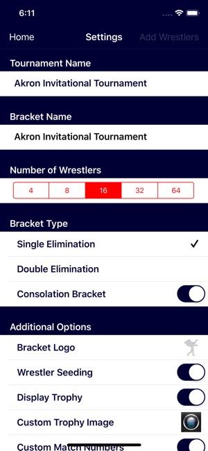 Wrestling Bracket Maker on the App Store
