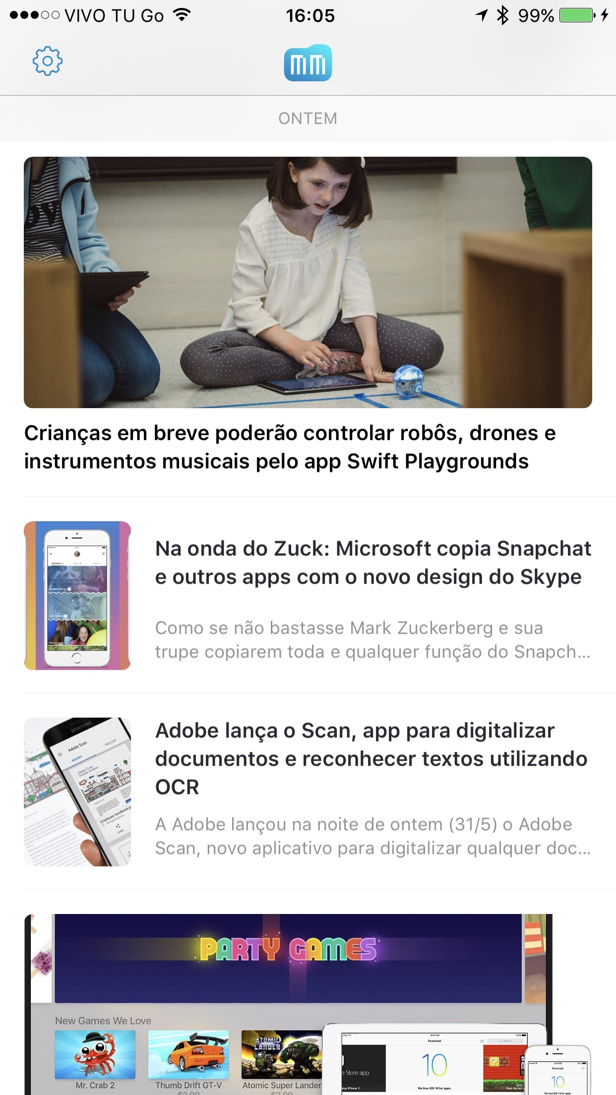 Screenshot do app MacMagazine