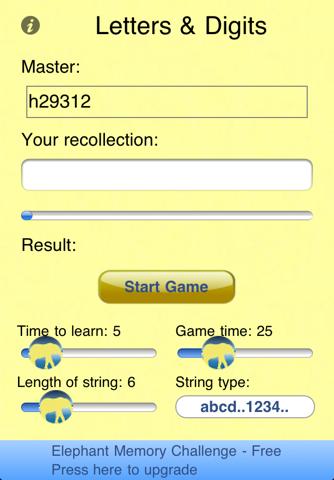 Elephant Memory Challenge screenshot 1