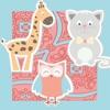 动物学习游戏小儿童和婴儿