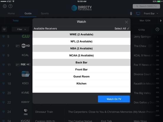 DIRECTV FOR BUSINESS Remote screenshot 4