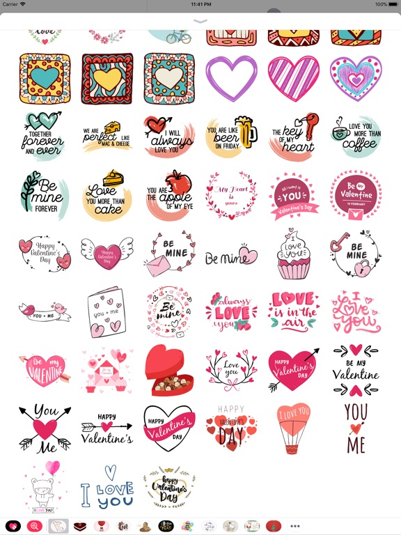 Hand Drawn Send Love Stickers screenshot 10