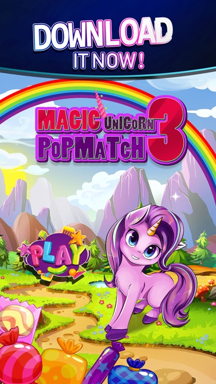 Magic Unicorn pop match 3 screenshot-3