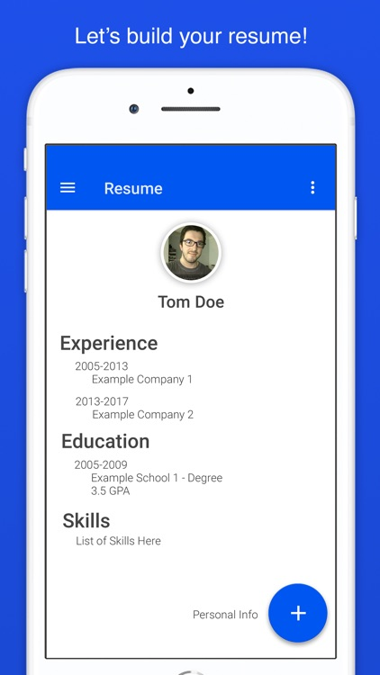 Resume Builder for Indeed