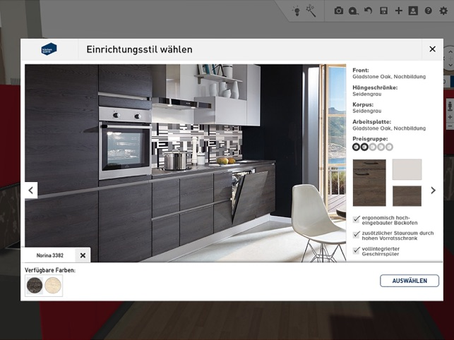 3d k chenplaner k chenquelle im app store. Black Bedroom Furniture Sets. Home Design Ideas