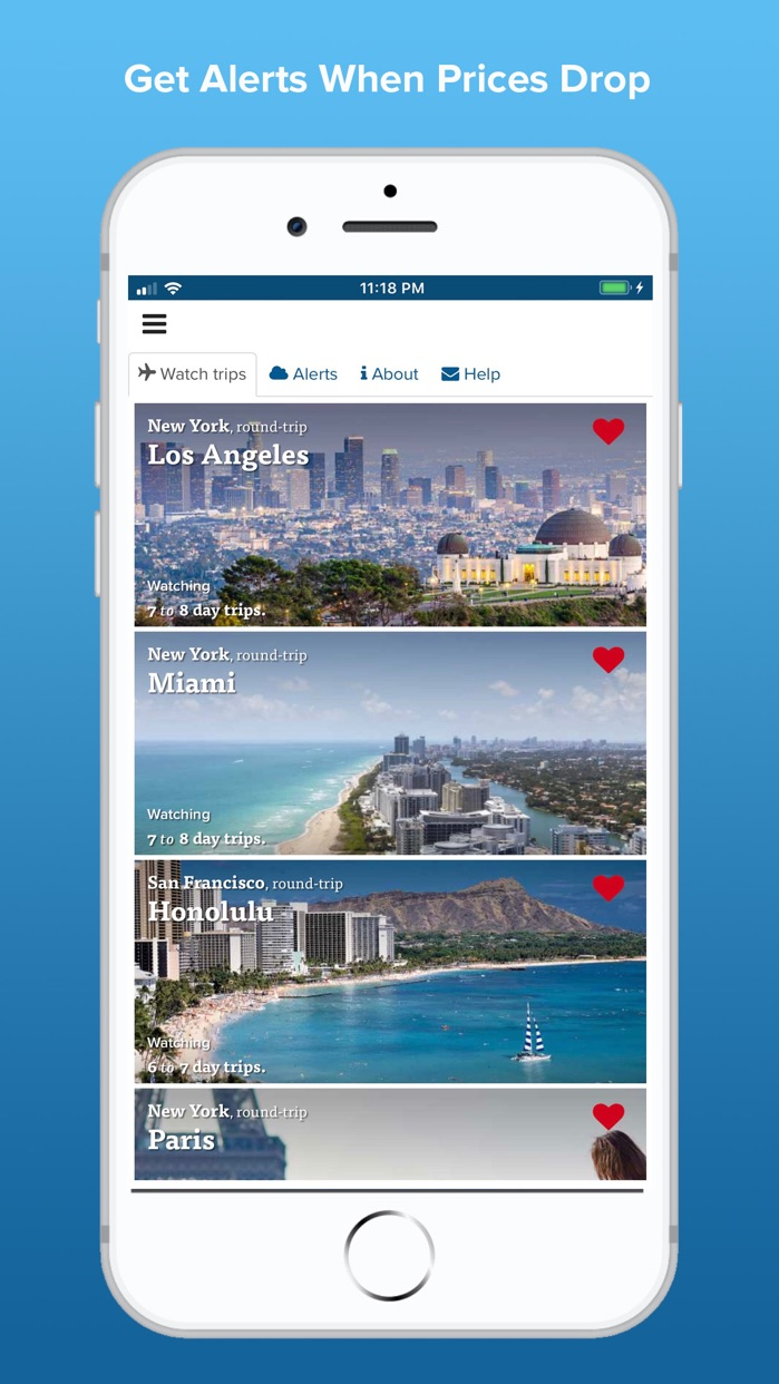 Fareness - When & Where to Fly Screenshot